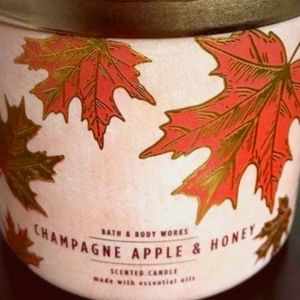 New Champagne Apple and Honey Candle